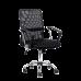 Кресло Barneo K-147 для персонала черная ткань и сетка