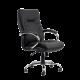 Кресло Barneo K-85 для руководителя черная кожа