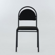 Стул Seven черный каркас, черная ткань C-11