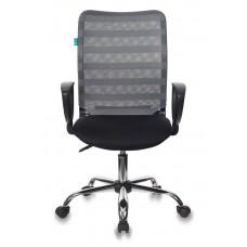 Кресло Бюрократ CH-599AXSL серый TW-32K03 сиденье черный TW-11 сетка/ткань крестовина металл хром