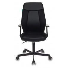 Кресло Бюрократ CH-606 черный искусст.кожа/ткань крестовина металл