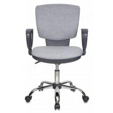 Кресло Бюрократ Ch-626AXSL серый 10-128 крестовина металл хром