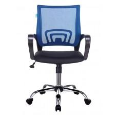 Кресло Бюрократ CH-695NSL синий TW-05 сиденье черный TW-11 сетка/ткань крестовина металл хром