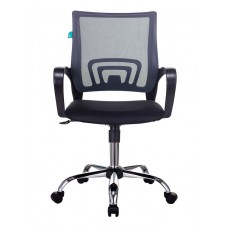 Кресло Бюрократ CH-695NSL темно-серый TW-04 сиденье черный TW-11 крестовина металл хром