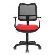 Кресло Бюрократ Ch-797AXSN черный сиденье красный 26-22 сетка/ткань крестовина пластик