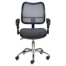 Кресло Бюрократ CH-799SL темно-серый TW-04 TW-12 сетка/ткань крестовина металл хром