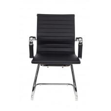 Кресло Бюрократ CH-883-Low-V черный искусственная кожа низк.спин. полозья металл хром