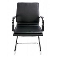 Кресло Бюрократ Ch-993-Low-V черный искусственная кожа низк.спин. полозья металл хром