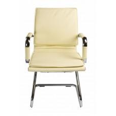 Кресло Бюрократ Ch-993-Low-V слоновая кость искусственная кожа низк.спин. полозья металл хром