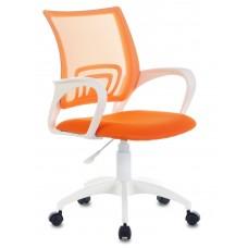 Кресло Бюрократ CH-W695NLT оранжевый TW-38-3 TW-96-1 сетка/ткань крестовина пластик пластик белый