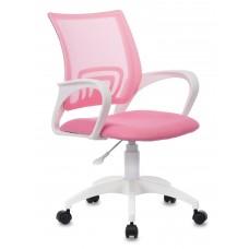 Кресло Бюрократ CH-W695NLT розовый TW-06A TW-13A сетка/ткань крестовина пластик пластик белый