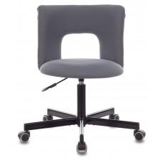 Кресло Бюрократ KF-1M серый 26-25 крестовина металл черный