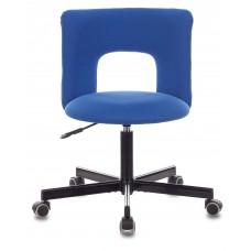 Кресло Бюрократ KF-1M синий 26-21 крестовина металл черный
