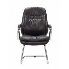 Кресло Бюрократ T-9950AV черный искусственная кожа полозья металл хром