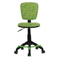 Кресло детское Бюрократ CH-204-F зеленый кактусы крестовина пластик подст.для ног