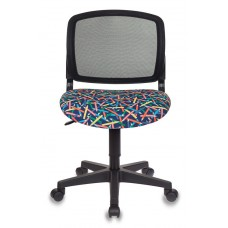 Кресло детское Бюрократ CH-296NX черный карандаши крестовина пластик