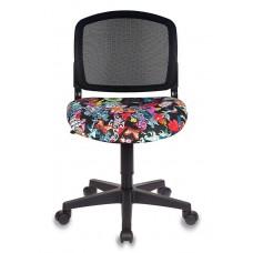 Кресло детское Бюрократ CH-296NX черный сиденье черный черепа сетка/ткань крестовина пластик