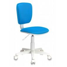 Кресло детское Бюрократ CH-W204NX голубой TW-55 крестовина пластик пластик белый