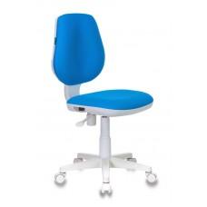 Кресло детское Бюрократ CH-W213 голубой TW-55 крестовина пластик пластик белый