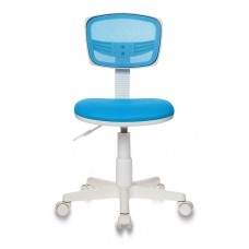Кресло детское Бюрократ CH-W299 голубой TW-31 TW-55 крестовина пластик пластик белый
