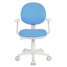 Кресло детское Бюрократ CH-W356AXSN голубой 15-107 крестовина пластик пластик белый