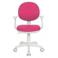 Кресло детское Бюрократ Ch-W356AXSN розовый 15-55 крестовина пластик пластик белый