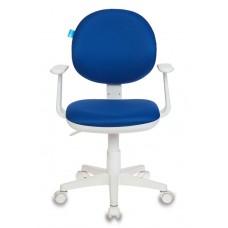 Кресло детское Бюрократ CH-W356AXSN темно-синий 15-10 крестовина пластик пластик белый