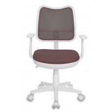 Кресло детское Бюрократ CH-W797 коричневый сиденье коричневый TW-14C сетка/ткань крестовина пластик пластик белый