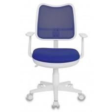Кресло детское Бюрократ Ch-W797 синий сиденье синий TW-10 сетка/ткань крестовина пластик пластик белый