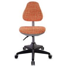 Кресло детское Бюрократ KD-2 оранжевый жираф крестовина пластик