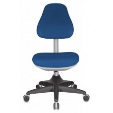 Кресло детское Бюрократ KD-2 синий TW-10 крестовина пластик