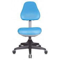 Кресло детское Бюрократ KD-2 светло-голубой TW-55 крестовина пластик
