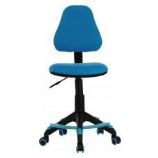 Кресло детское Бюрократ KD-4-F голубой TW-55 крестовина пластик подст.для ног