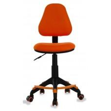 Кресло детское Бюрократ KD-4-F оранжевый TW-96-1 крестовина пластик подст.для ног