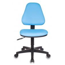 Кресло детское Бюрократ KD-4 голубой TW-55 крестовина пластик