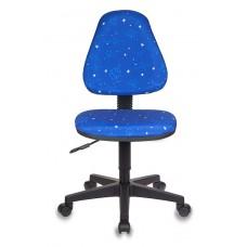 Кресло детское Бюрократ KD-4 синий космос крестовина пластик