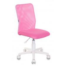 Кресло детское Бюрократ KD-9 розовый TW-06A TW-13А сетка/ткань крестовина пластик пластик белый