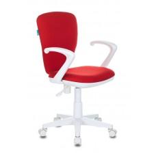 Кресло детское Бюрократ KD-W10AXSN красный 26-22 крестовина пластик пластик белый