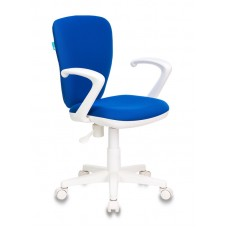Кресло детское Бюрократ KD-W10AXSN синий 26-21 крестовина пластик пластик белый
