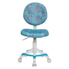 Кресло детское Бюрократ KD-W6-F голубой аквариум крестовина пластик подст.для ног пластик белый