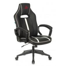 Кресло игровое Zombie A3 черный/белый искусственная кожа крестовина пластик