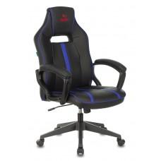 Кресло игровое Zombie A3 черный/синий искусственная кожа крестовина пластик