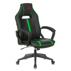 Кресло игровое Zombie A3 черный/зеленый искусственная кожа крестовина пластик