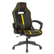Кресло игровое Zombie A3 черный/желтый искусственная кожа крестовина пластик