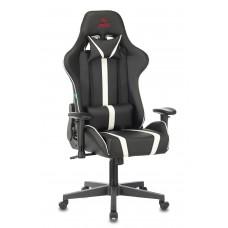 Кресло игровое Zombie A4 черный/белый искусственная кожа с подголов. крестовина пластик