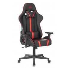 Кресло игровое Zombie A4 черный/красный искусственная кожа с подголов. крестовина пластик
