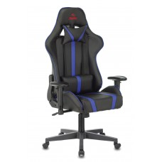 Кресло игровое Zombie A4 черный/синий искусственная кожа с подголов. крестовина пластик