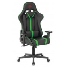 Кресло игровое Zombie A4 черный/зеленый искусственная кожа с подголов. крестовина пластик
