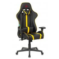 Кресло игровое Zombie A4 черный/желтый искусственная кожа с подголов. крестовина пластик