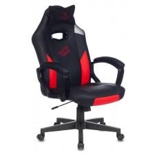 Кресло игровое Zombie HERO BATTLEZONE черный/красный искусственная кожа с подголов. крестовина пластик